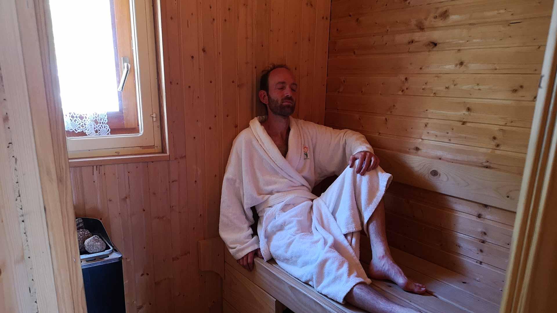 Sauna 3 du gîte de sapin
